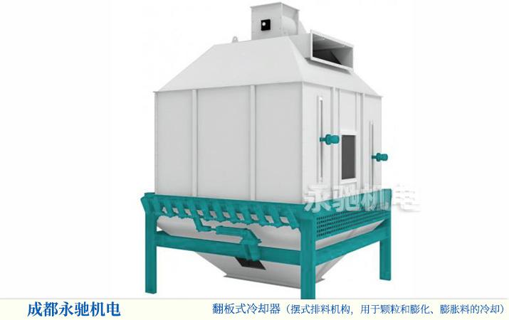 用于必赢亚洲线路测试颗粒冷却的逆流式冷却设备,摆式排料